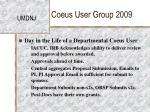 coeus user group 200927