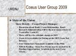 coeus user group 20093