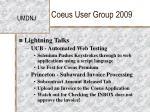 coeus user group 200932