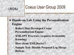 coeus user group 200936