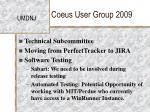 coeus user group 200938