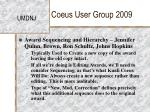coeus user group 20094