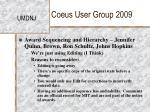 coeus user group 20096