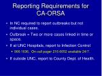 reporting requirements for ca orsa