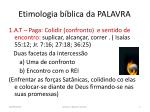 etimologia b blica da palavra