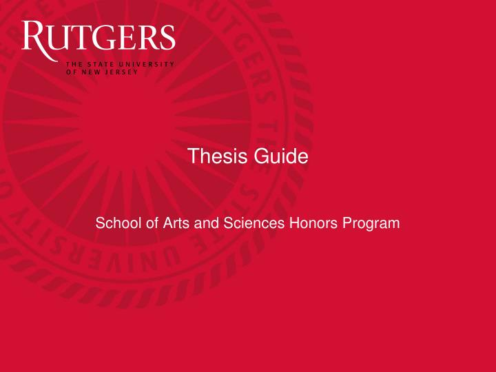 thesis guide n.