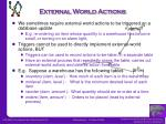 external world actions