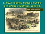 5 tsla holdings include a number of drawings and political cartoons