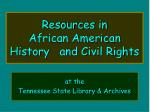 resources in african american history and civil rights