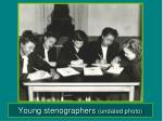 young stenographers undated photo