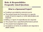 roles responsibilities frequently asked questions1