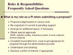 roles responsibilities frequently asked questions3