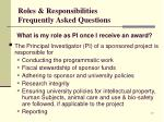 roles responsibilities frequently asked questions4