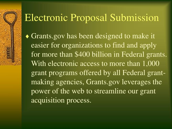 electronic proposal submission n.