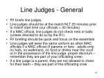 line judges general