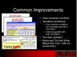 common improvements
