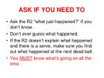 ask if you need to