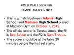 volleyball scoring sample match 2012