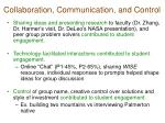 collaboration communication and control