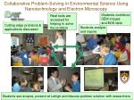 collaborative problem solving in environmental science using nanotechnology and electron microscopy