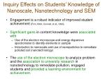 inquiry effects on students knowledge of nanoscale nanotechnology and sem