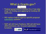 what is grants gov