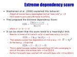 extreme dependency score