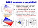 which measures are equitable