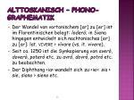alttoskanisch phono graphematik1