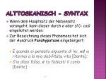 alttoskanisch syntax