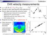 drift velocity measurements