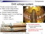 drift voltage system