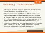 parameter 3 the environment