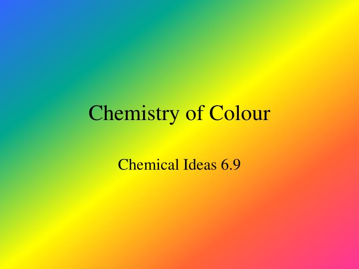 chemistry of colour n.