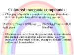 coloured inorganic compounds1