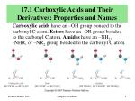 17 1 carboxylic acids and their derivatives properties and names