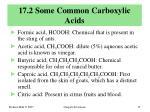 17 2 some common carboxylic acids