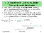 17 4 reactions of carboxylic acids ester and amide formation