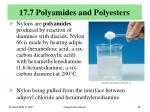 17 7 polyamides and polyesters