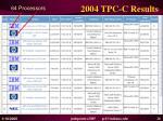 2004 tpc c results