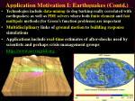 application motivation i earthquakes contd