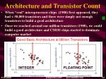 architecture and transistor count