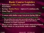 basic course logistics
