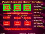 parallel computer memory structure