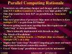 parallel computing rationale