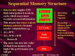 sequential memory structure