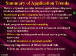 summary of application trends