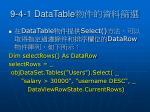 9 4 1 datatable