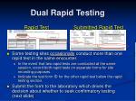 dual rapid testing