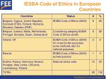 iesba code of ethics in european countries